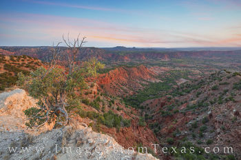 caprock canyons, state park, caprock canyons prints, west texas, briscoe county, morning, haynes ridge overlook