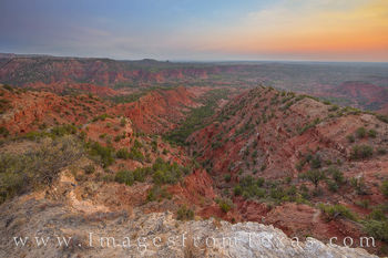 caprock canyon, haynes ridge, morning, sunrise, red, west texas, canyons, caprock canyon prints, exploring texas
