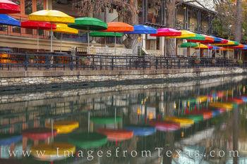 riverwalk, casa rio, colors, umbrellas, riverwalk, san antonio, san antonio river, tourism, tex-mex, mexican food, river, reflection