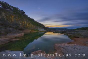 Crescent Moonrise over Pedernales Falls 1