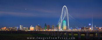 dallas skyline panorama,dallas skyline,Margaret Hunt Hill Bridge,reunion tower,Continental Avenue Bridge,dallas panorama