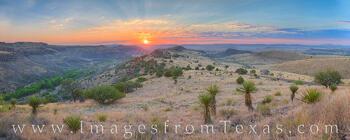 Davis Mountains Sunrise Panorama 2