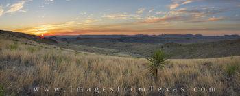 Davis Mountains Sunrise Panorama 3