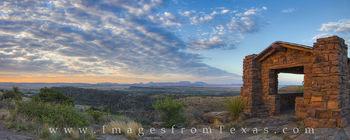Davis Mountains Sunrise Panorama 5