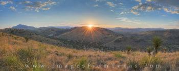 Davis Mountains Sunset Panorama 1