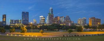 Downtown Austin Evening Panorama 1