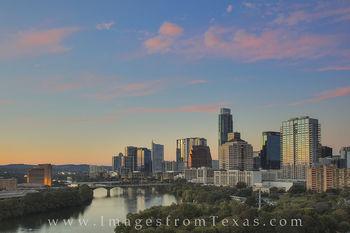 Downtown Austin Texas on a Fall Evening