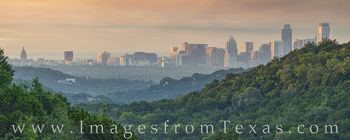 downtown austin, skyline, 360 lookout, panorama, morning, capitol, capital, jenga, frost, austonian