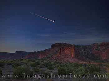 caprock canyons, night sky, draconids, meteors, state park, west texas
