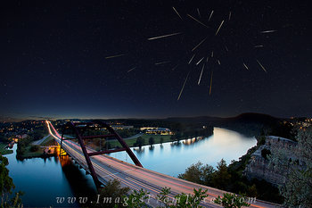 360 Bridge photos,360 bridge prints,draconid meteor images,austin meteor images,pennybacker bridge images