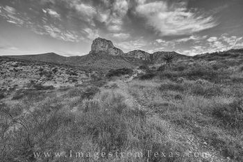 black and white, guadalupe mountains, guadalupe mountains national park, el capitan, texas black and white, texas trails, texas hiking, texas images