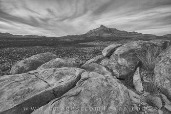 El Capitan, Guadalupe Mountains Black and White 1