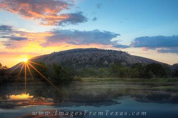 Enchanted Rock Sunrise from Moss Lake 1