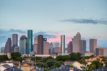 houston texas prints,images of houston,images of the houston skyline,downtown houston prints