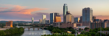 austin skyline pano,austin texas pano,lady bird lake,austin sunrise images