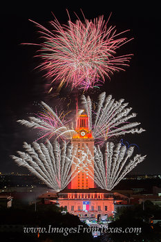UT Tower fireworks,Texas Tower fireworks,UT Campus,UT graduation ceremony images
