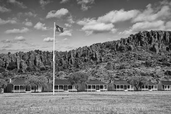 Fort Davis Barracks Black and White 3