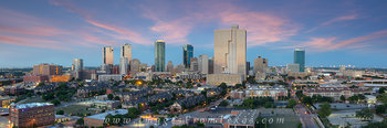 ft worth skyline panorama,fort worth skyline images,fort worth panos,ft worth cityscape,downtown Fort Worth