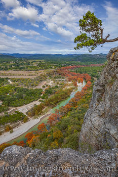 Frio River in Fall from Old Baldie 1114-1