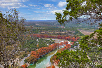 Frio River in Fall from Old Baldie 1114-2