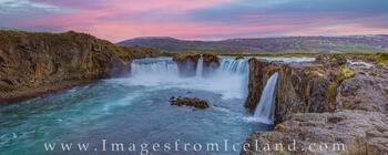 Goðafoss on a Summer Night 1