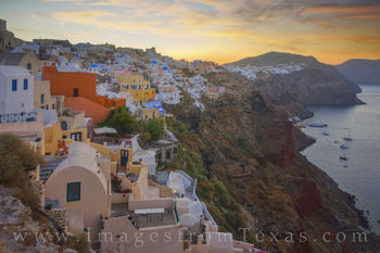 oia, santorini, greek islands, greece, travel, aegean sea, caldera, sunrise, morning, quiet, Cyclades islands