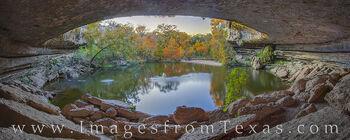 Hamilton Pool Panorama - Autumn Colors 1