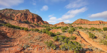 Hiking in Caprock Canyons Panorama 108-1