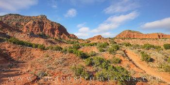 caprock canyons, state park, hiking, west texas, panhandle, morning, orange, desert, panorama