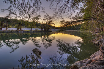 Hill Country River Sunrise 1