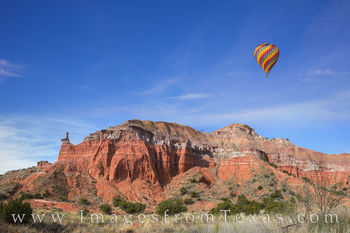 balloon, hot air balloons, palo duro canyon, capitol peak, palo duro canyon panorama, hoodoo palo duro canyon, palo duro canyon state park, texas landscapes, texas panorama, texas panhandle, texas can