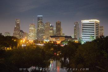 houston skyline prints,houston skyline pictures,buffalo bayou houston,houston texas prints