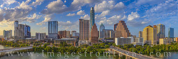 austin skyline, summer, town lake, austonian, frost tower, jenga, independent, panorama, hyatt, afternoon