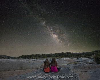 Little Girls under the Texas Milky Way