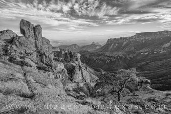 big bend national park, black and white, lost mine trail, chisos mountains, big bend photography, juniper canyon, big bend prints, chisos mountains pictures, hiking big bend, big bend trails, texas la
