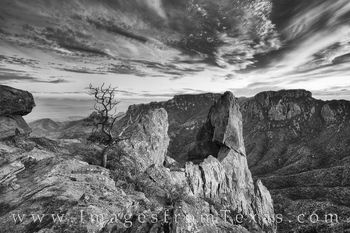 big bend national park, black and white, chisos mountains, lost mine trail, lost mine hike, big bend prints, big bend photography, hiking big bend, chisos mountains images, texas landscapes, texas ima