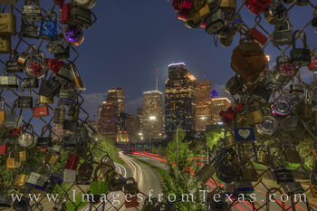 Love Lock Bridge at Night - Houston 329-1