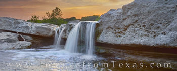 mckinney falls, lower falls, panorama, texas state parks, waterfall, cascade, austin, sunset, prints for sale