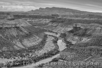 mesa de anguila, black and white, rio grande, sierra ponce, border, mexico, big bend national park
