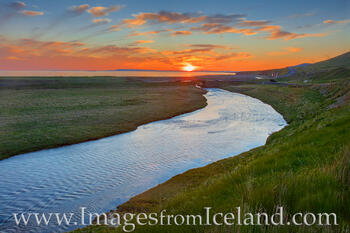 Midnight Sun over Grundarfjörður Bay, Iceland