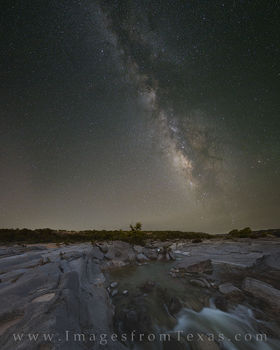 texas hill country, milky way, pedernales falls, night sky, texas milky way, hill country prints, milky way images, milky way over texas