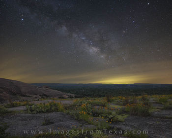 milky way, texas hill country, texas wildflowers, enchanted rock, texas state parks, texas hill country images, milky way photos, milky way prints
