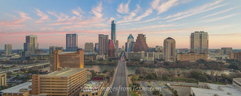 Morning Clouds over Austin Aerial 1