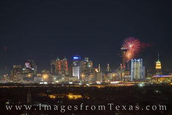New Year's Eve Fireworks over San Antonio 1
