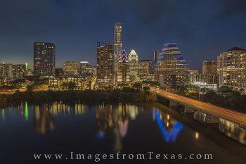 Nighttime Austin Skyline from the Hyatt 7-2