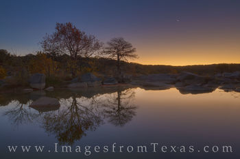 texas hill country, texas sunrise, autumn colors, fall colors, texas autumn, pedernales river, pedernales falls, texas landscapes, moonrise