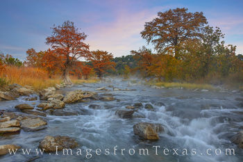 pedernales river, fall autumn, hill country, sunrsise, water, cypress, orange, november, fall color