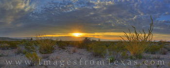 big bend national park, sunset, texas sunset, ocotillo, texas landscapes, chihuahuan desert, chisos mountains