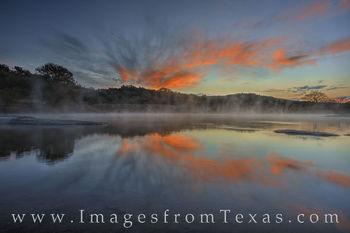 November Sunrise over the Pedernales River 1