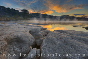texas hill country, pedernales river, pedernales falls, sunrise, texas sunrise, november, morning, texas landscapes, texas state parks, texas sunrise, fog, mist